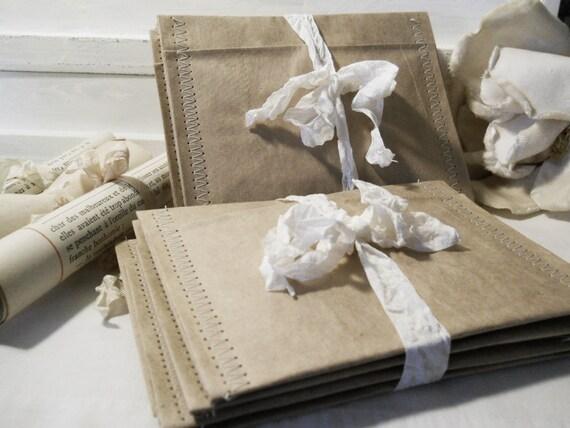 Brown Bag Paper Pockets 8 Set
