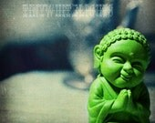 Tiny Green Buddha Photographic Print
