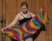 Rainbow 8mm 15x60 Habotai Silk scarf