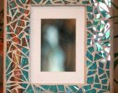 8x10 Iridized Mosaic Frame With Tree Painting