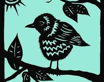 Rural Pearl Baby Bird Sticker