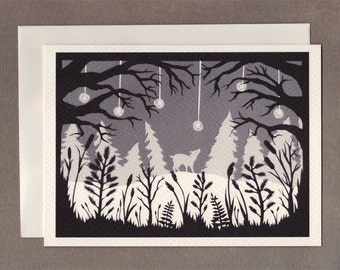 Cold Winter's Night - Greeting Card