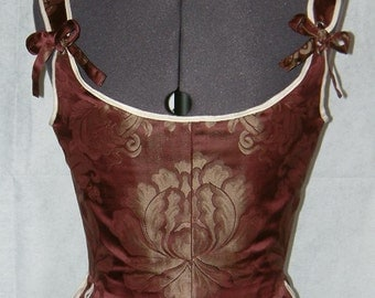 18th c. half-boned stays - Made to order