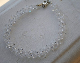 Fire and Ice Crystal Luxe Bridal Bracelet