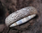 wedding band ring engagement ring wedding ring rock textured men and women sterling silver ring 5mm made to order single handmade jewelry