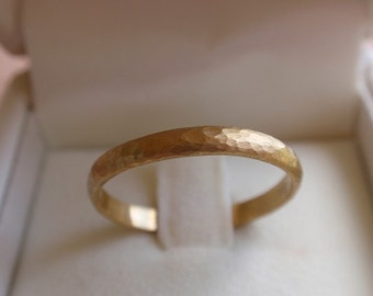 14k solid gold wedding band his and hers hammered gold wedding ring yellow white rose gold wedding band ring engagement gold ring gift