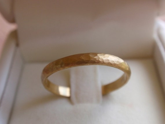 14k solid gold wedding band hammered gold wedding ring yellow white rose gold wedding band ring engagement gold ring made to order handmade