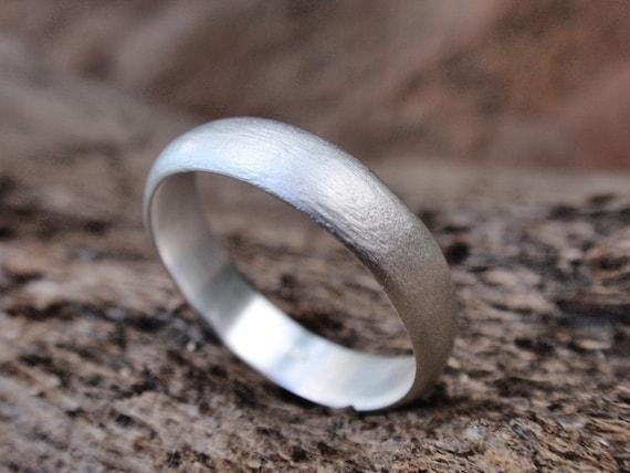men wedding ring brushed finish wedding band for men or women sterling silver handmade rough brushed finish ring 5mm made to order