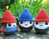 Chubby Gnome Amigurumi Pattern PDF, including Christmas characters.