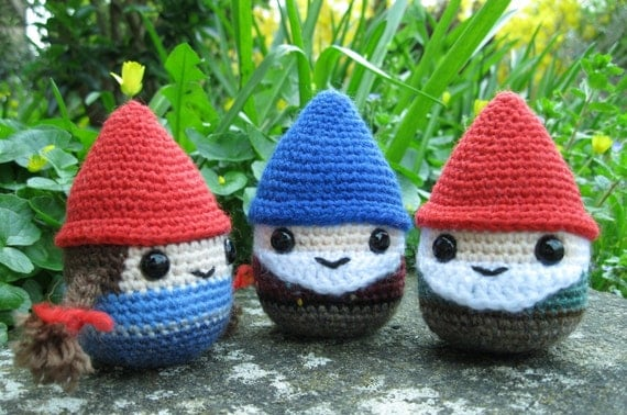 Amigurumi Hello Kitty Free Pattern : Chubby Gnome Amigurumi Pattern PDF Gnomes and Christmas