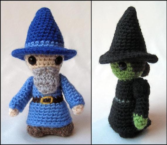 Witch and Wizard Mini Amigurumi Pattern PDF