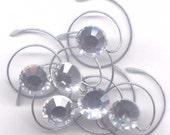 Swarovski Crystal Clear Bridal Hair Swirls