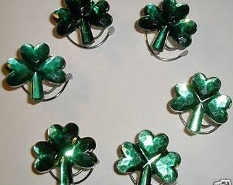 Irish Wedding Green Shamrock Hair Swirls Hair Spins Spirals Twists or Coils