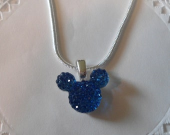 MOUSE EARS Necklace for Disney Wedding Party in Dazzling Royal Blue Acrylic Original Maker 2012