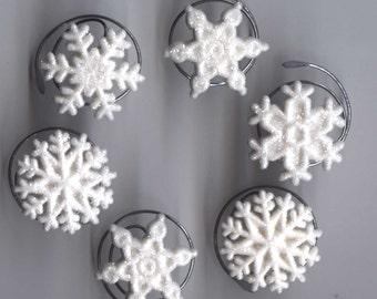 Glitter Snowflake Hair Swirls
