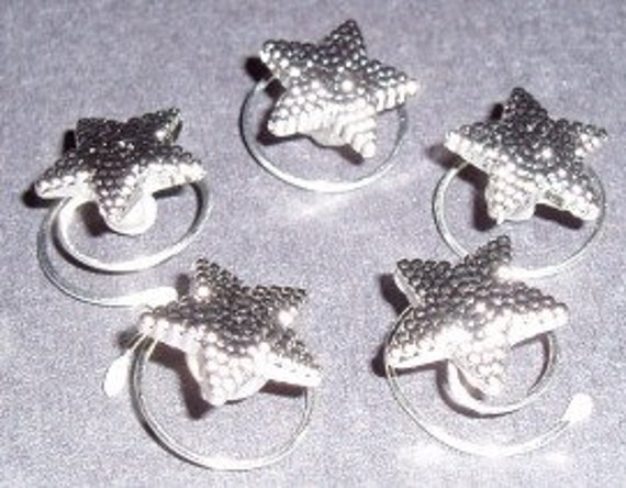 Sparkling Tiny Silver Tone Stars for Your Hair Coils Twists Spins Spirals Debs Twisties Hairswirls1