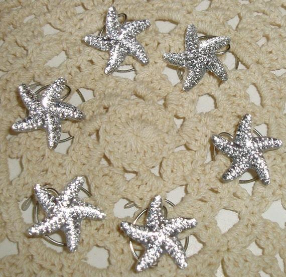 Mermaid Starfish Hair Swirls Twists Spins Spirals for Beach Wedding Party