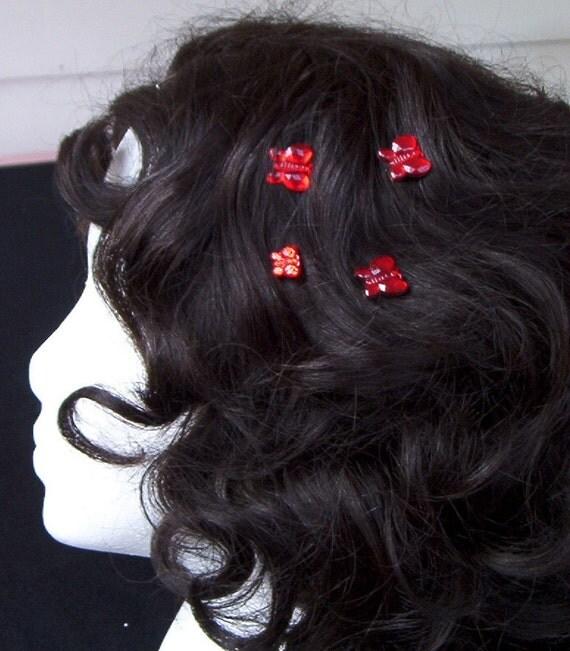 Bridesmaids-Butterfly Hair Swirls-Hair Twists-Hair Spins-Hair Coils-Hair Jewelry-Flower Girl
