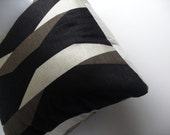 "Sale Black geometric pillow modern pattern 16"" x 16"""