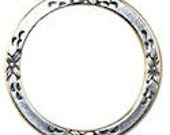 Trinity Brass Floral Eternal Ring in Antiqued Silver- 25mm