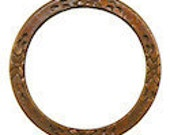 Trinity Brass Floral Eternal Ring in Trinity Vintage Patina- 25mm
