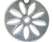 4 Trinity Brass Co  Daisy Disk in Antiqued Silver- 16mm