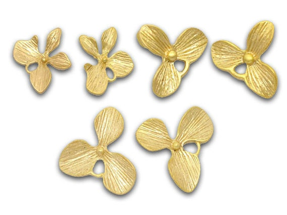 Mixed Gold Plated Flower Charm Earring Pendants