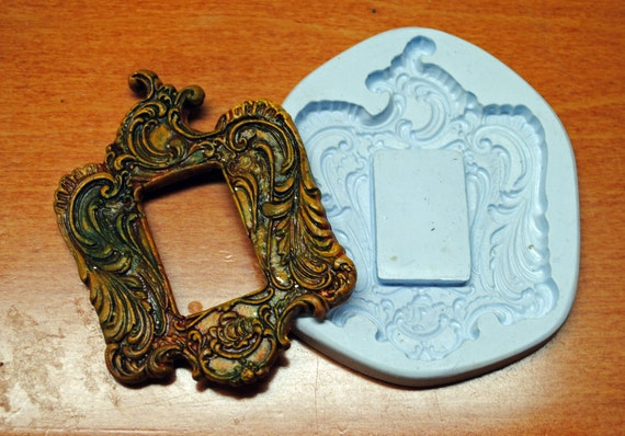 Polymer Clay Molds (3), Frames and Keyhole