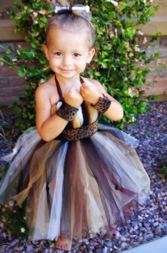 Princess Pebbles Cave Girl Tutu Costume size 6mo to 18mo