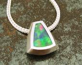 Australian opal pendant in sterling silver