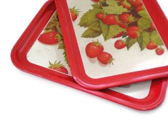 Vintage Strawberry Trays