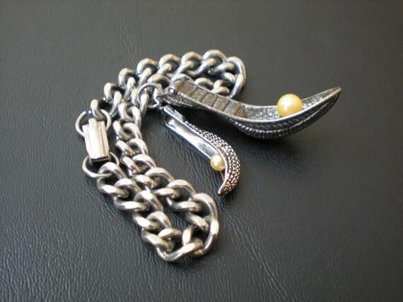 Vintage Jai Alai Cesta Charm Bracelet