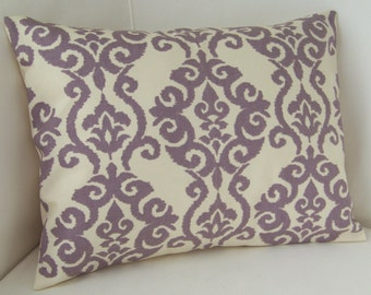 Lilac Purple Pillow Cover Lumbar Pillow Decorative Pillow Accent Cushion Throw