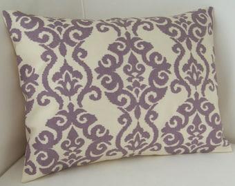 Lilac Purple Pillow Cover Lumbar Pillow Decorative Pillow Accent Cushion Throw