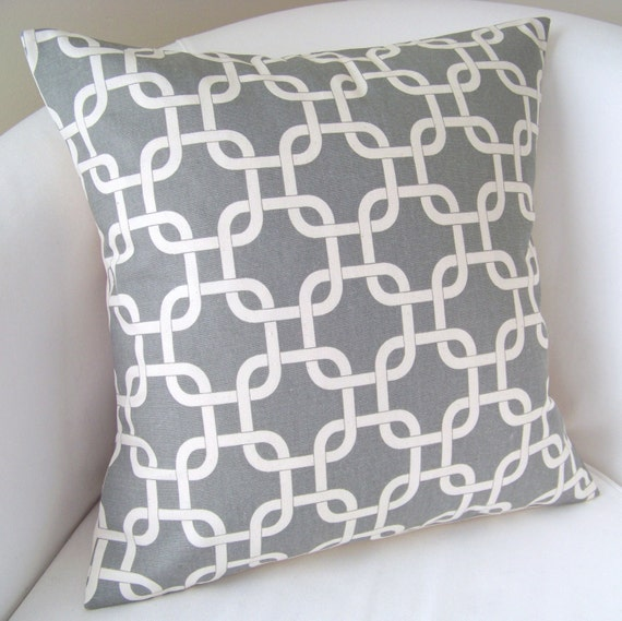Gray Pillow Cover 18x18 Inch Decorative Pillow Accent Cushion Throw Grey