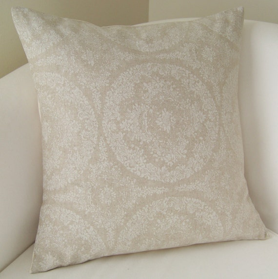 Decorative Pillow Cover 18 x 18 Inch Accent Cushion Throw Neutral Beige