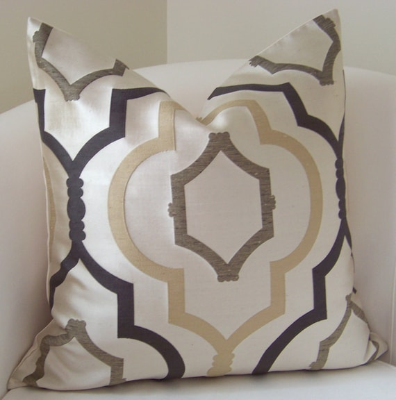 Decorative Pillows For Couch Etsy : Brown Pillow Cover Neutral Pillow Throw Pillow Trellis Pillow
