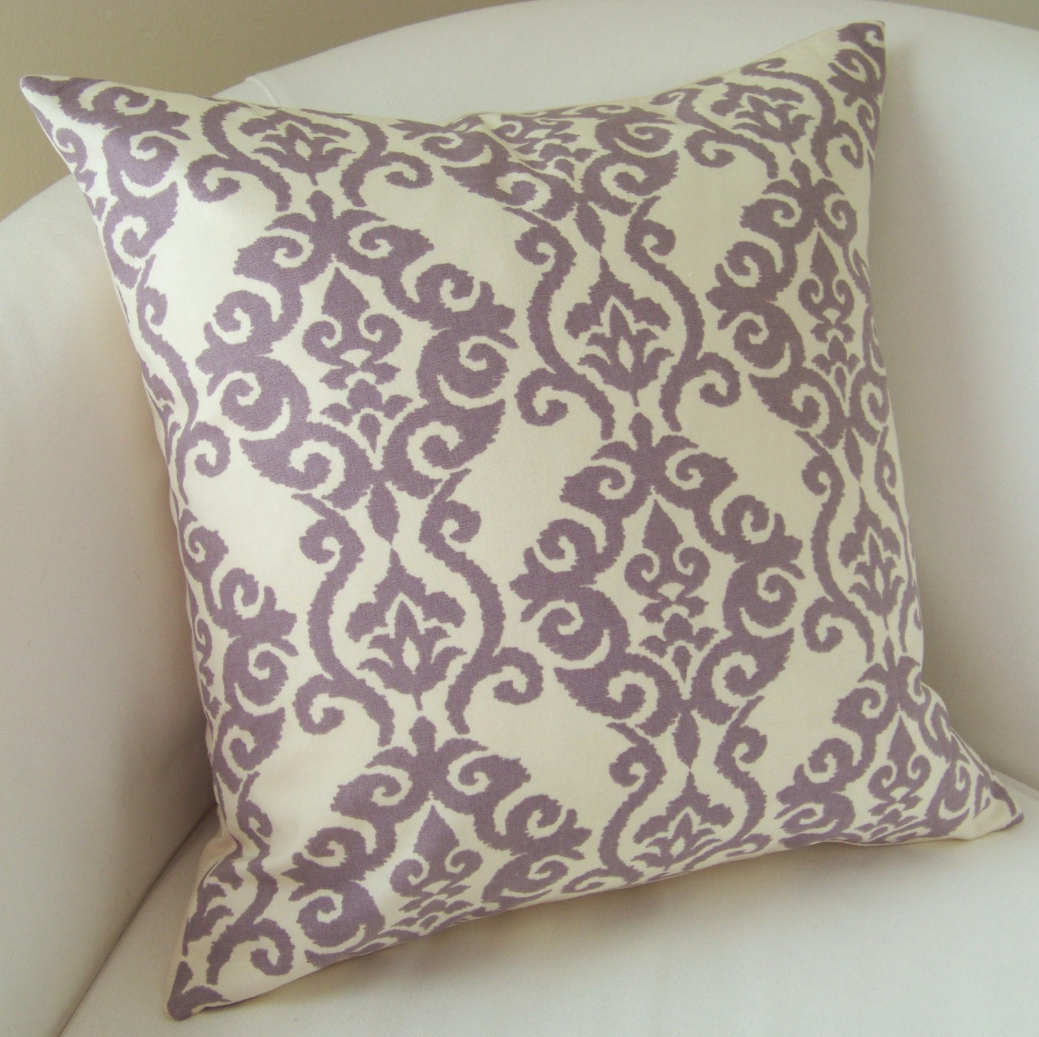 Decorative Throw Pillow Cover Lilac Purple Pillow Accent