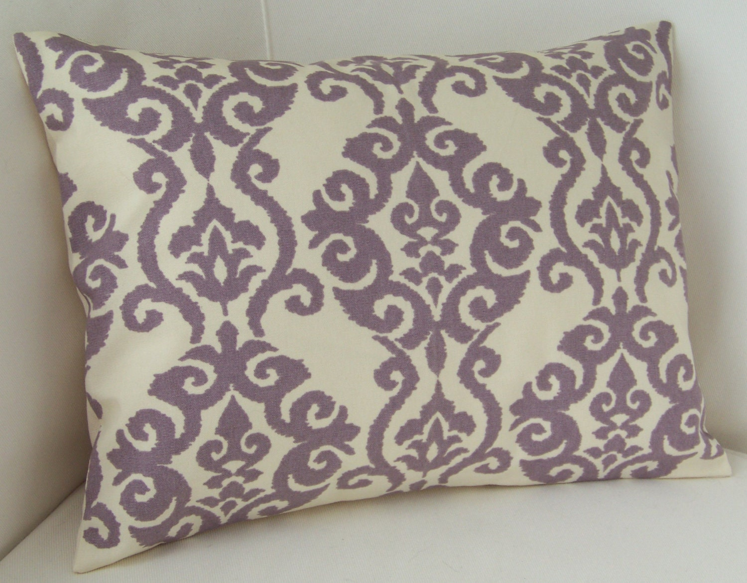 lilac purple pillow cover lumbar pillow decorative pillow