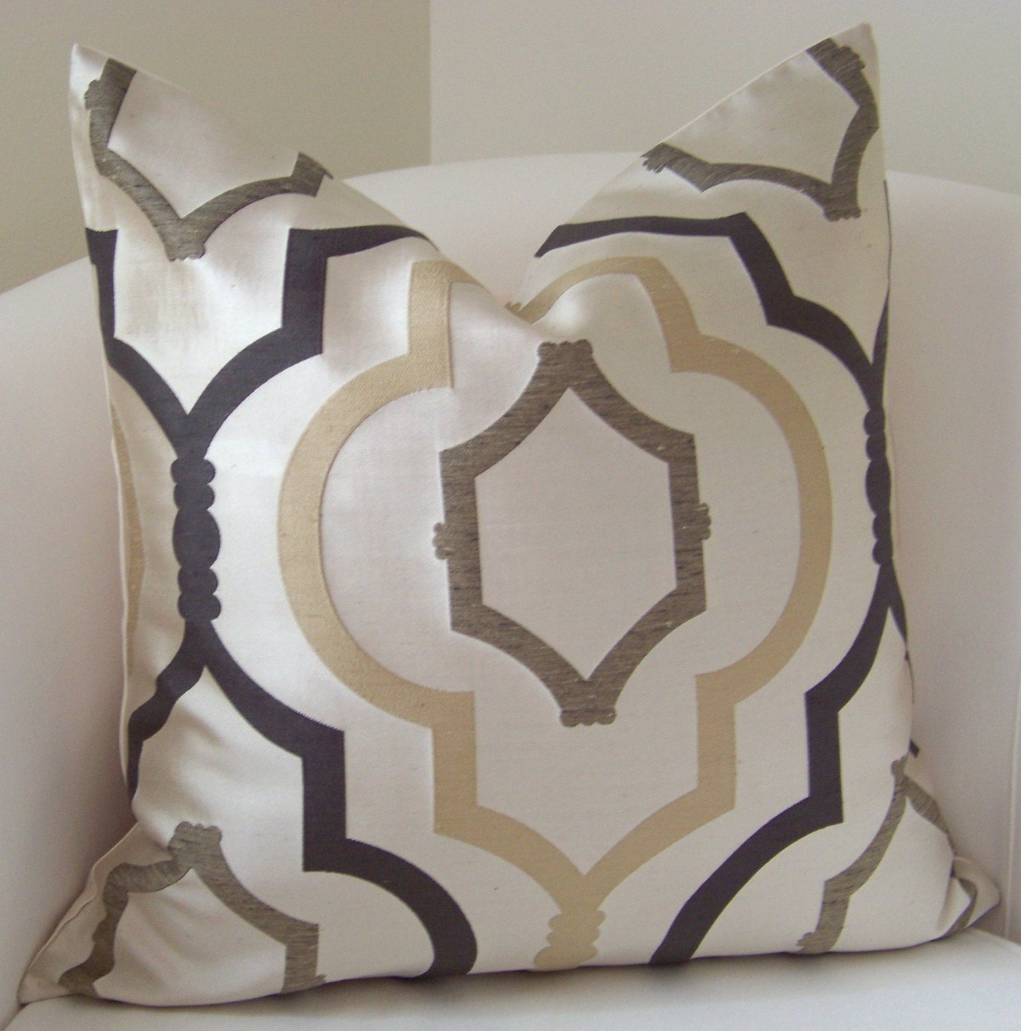 Decorative Pillows And Throws : Brown Pillow Cover Neutral Pillow Throw Pillow Trellis Pillow