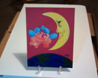 Original Painting...Button Fairy 5