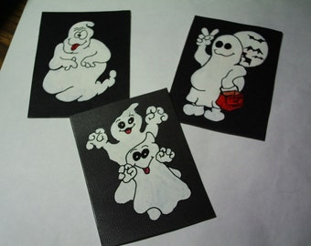 BOO-YALL....aceo original painting set....