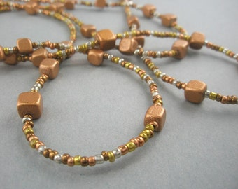 Silver, Gold, Copper, Brass Metallic Necklace