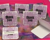 Handmade Mini Thank You Notecards in Lilac - Eight