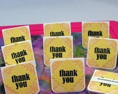 Handmade Mini Thank You Notecards in Yellow Peach - Eight