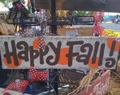 Hand Painted Weathered HAPPY FALL sign