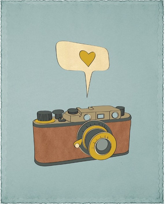 Camera Art Print, Camera Poster, Digital Illustration, Camera Wall Decor, Antique Photography Camera Art Digital Poster, Vintage Camera