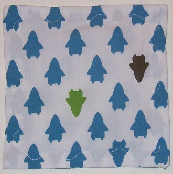 Little Rockets Baby Crinkle Square- Sensory Toy