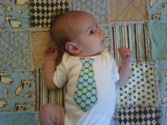 Little Guy Tie Onesie- 33 fabrics to choose from...FREE SHIPPING when you order ANY 3 or more onesies/tshirts from my shop