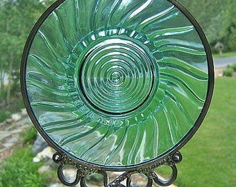 PETAL SWIRL - Circa 1930 Plate Upcycled into a Windchime
